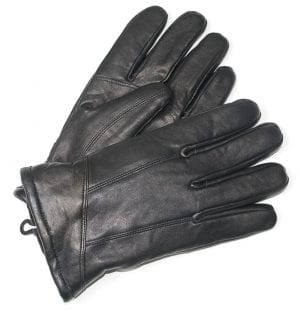 Mens Leather Wool Lined Glove