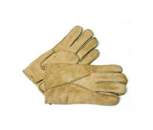 Mens Pieced Glove Suede